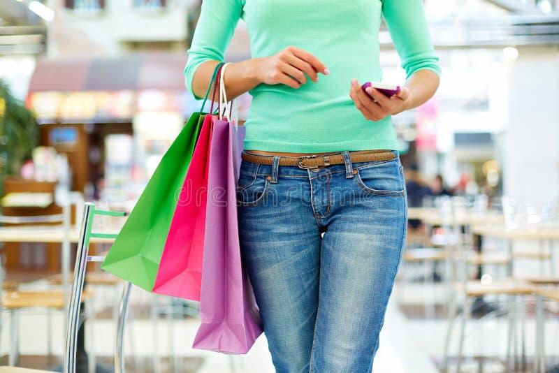 Modern shopper royalty free stock image