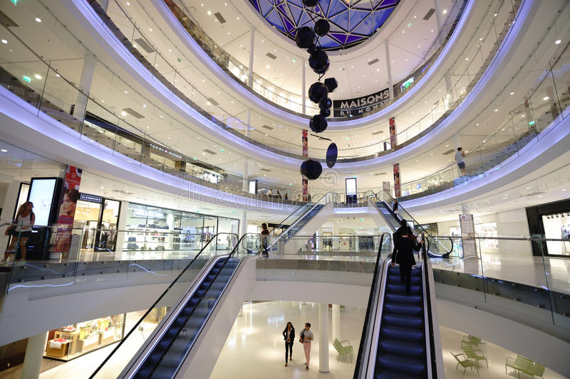 modern shopping center in paris editorial stock image image of