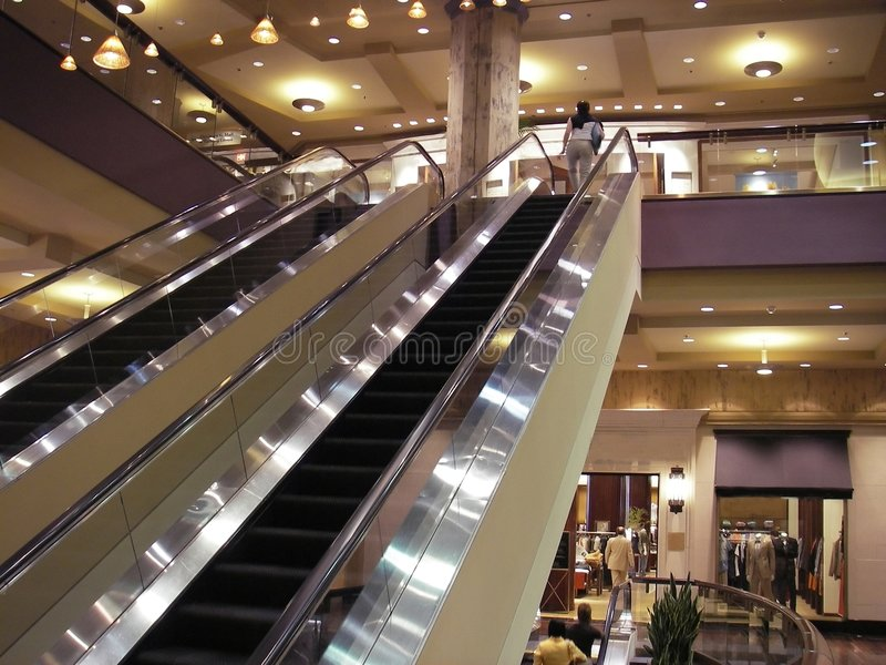 Modern Shopping Mall stock photos