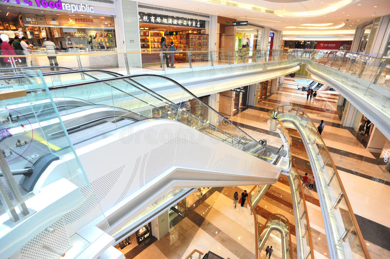 Download Modern shopping mall editorial stock image. Image of indoor - 21797809