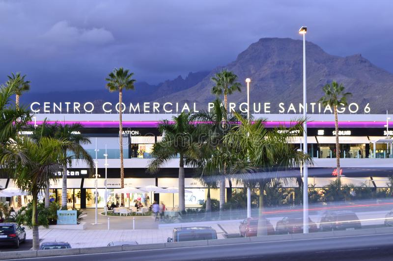 Modern shopping mall building Tenerife Canary Islands royalty free stock images