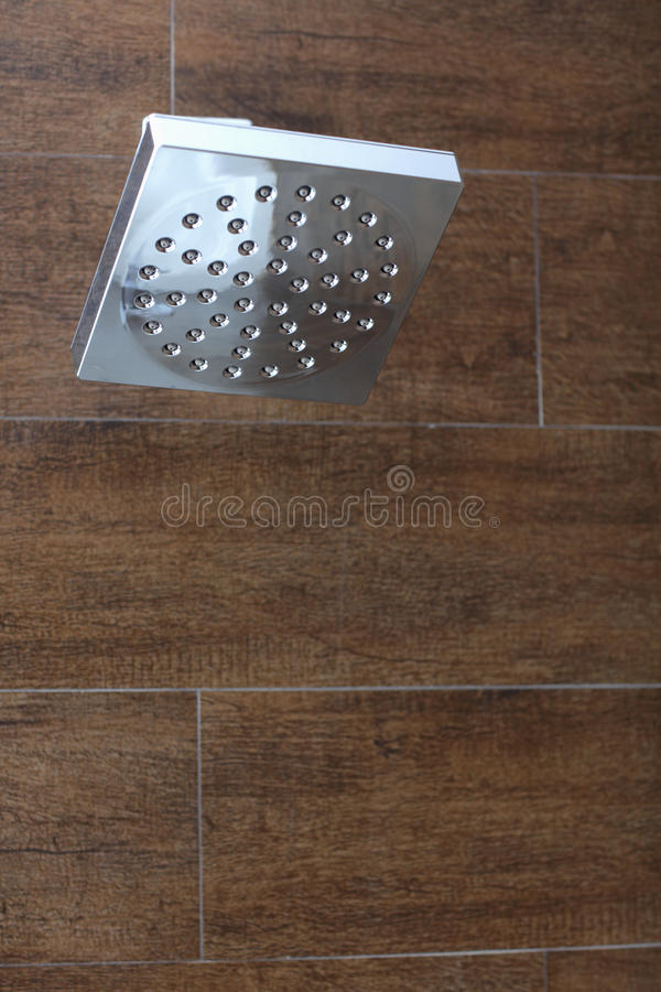 Modern shower head. Stock image of a stainless steel shower head royalty free stock image