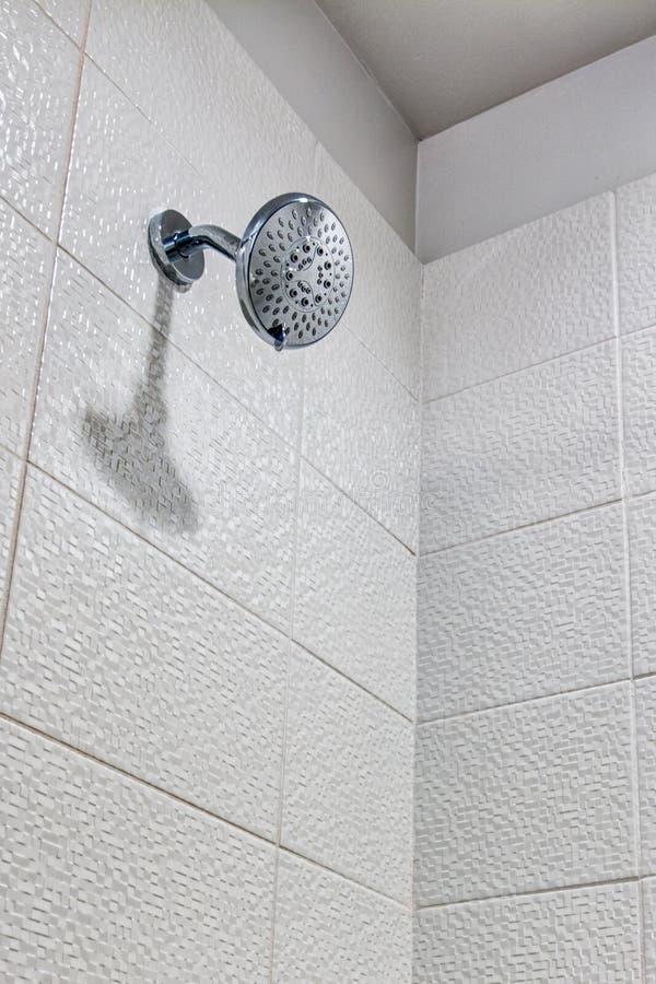 Modern shower at hotel resort stock images