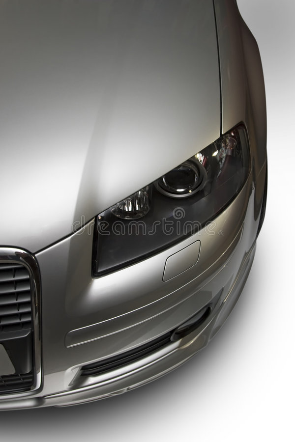 Modern silver car royalty free stock images
