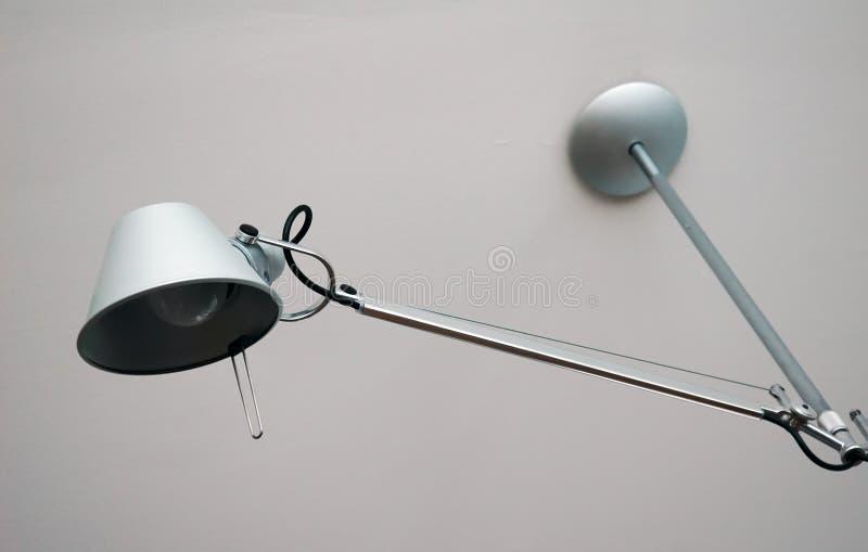 Modern silver Desk Lamp stock photos