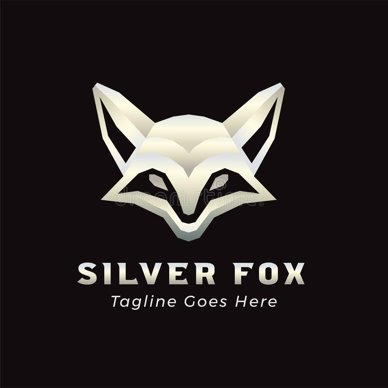 Modern Silver Fox Logo Template. Elegant Minimalism Luxury and Modern Silver Fox Logo Template Icon Vector for Hi-Tech Business, Application, Consulting vector illustration