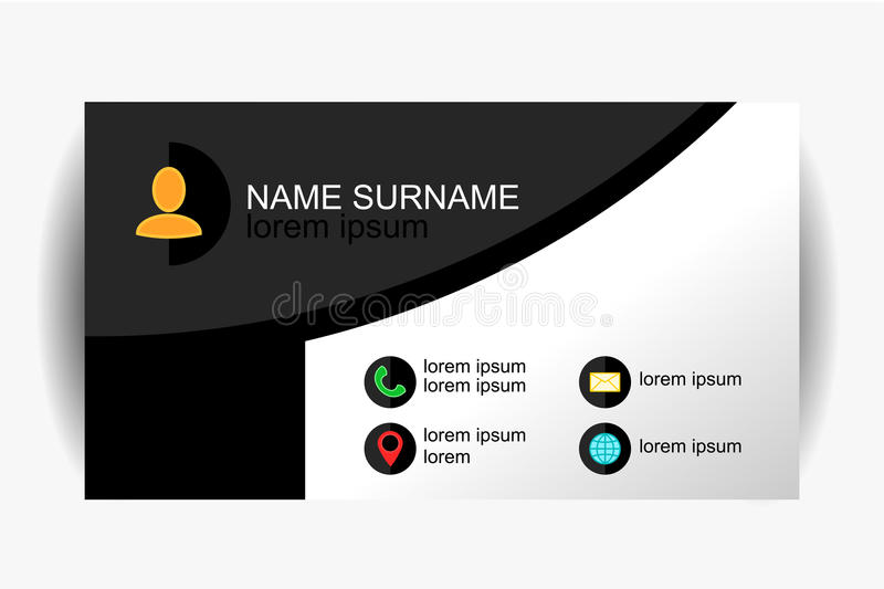 Modern simple business card template with flat user interface download modern simple business card template with flat user interface vector design stock vector reheart Gallery