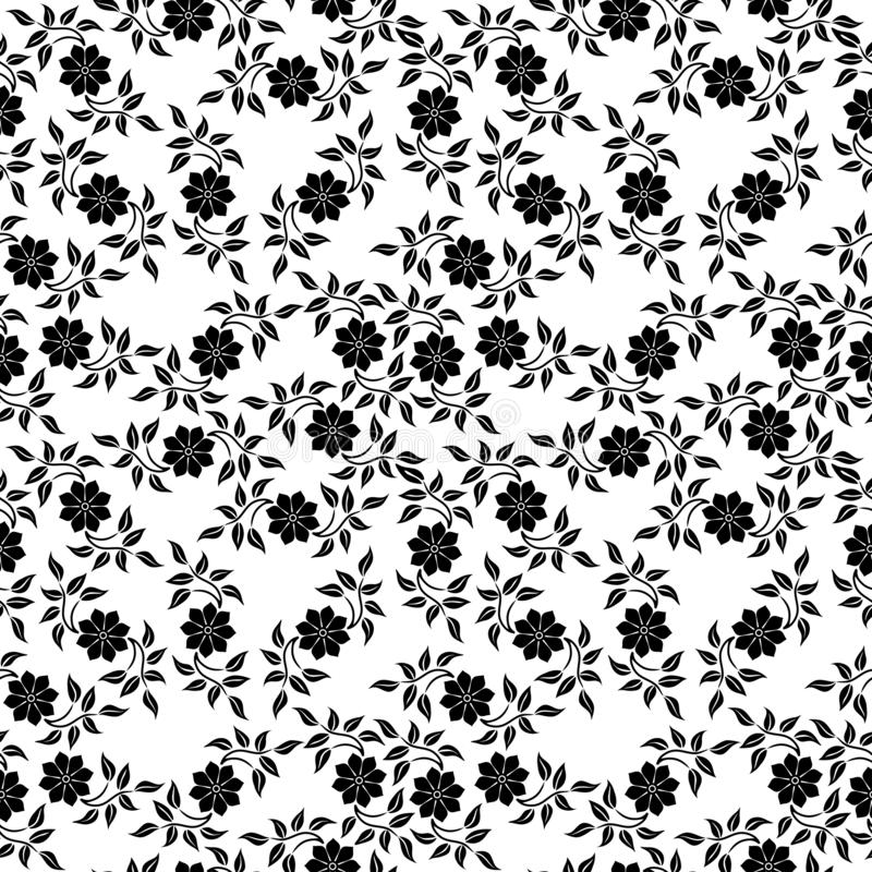 Modern simple flowers vector seamless pattern royalty free illustration