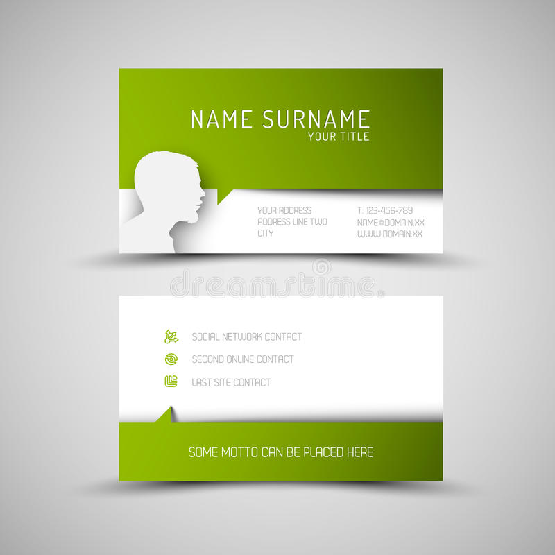 Modern simple green business card template with user profile stock download modern simple green business card template with user profile stock vector illustration of light wajeb Gallery