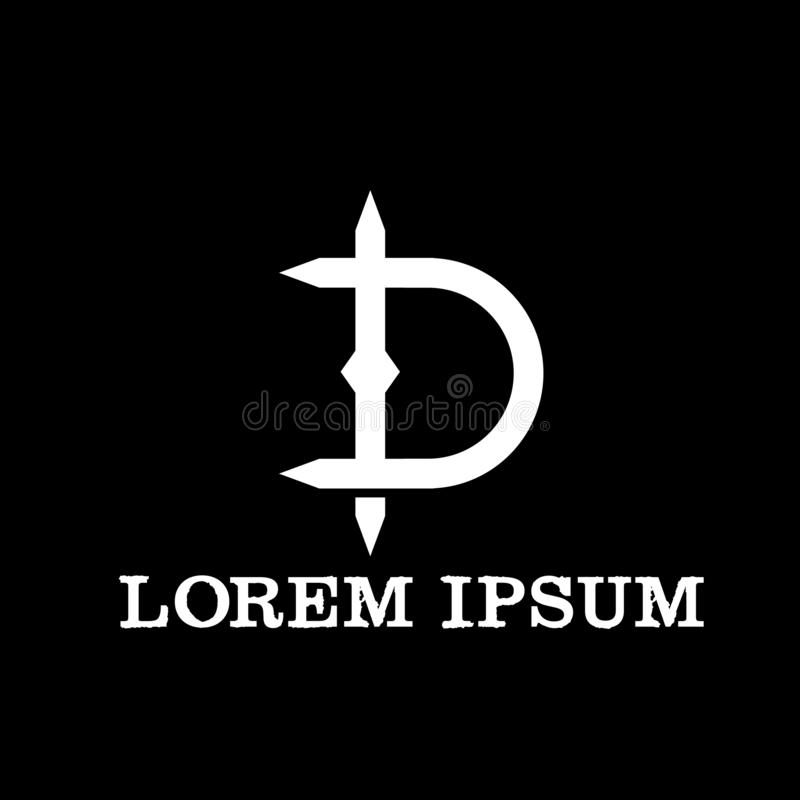Modern Monogram Name Initials TD Logo Wedding Invitation