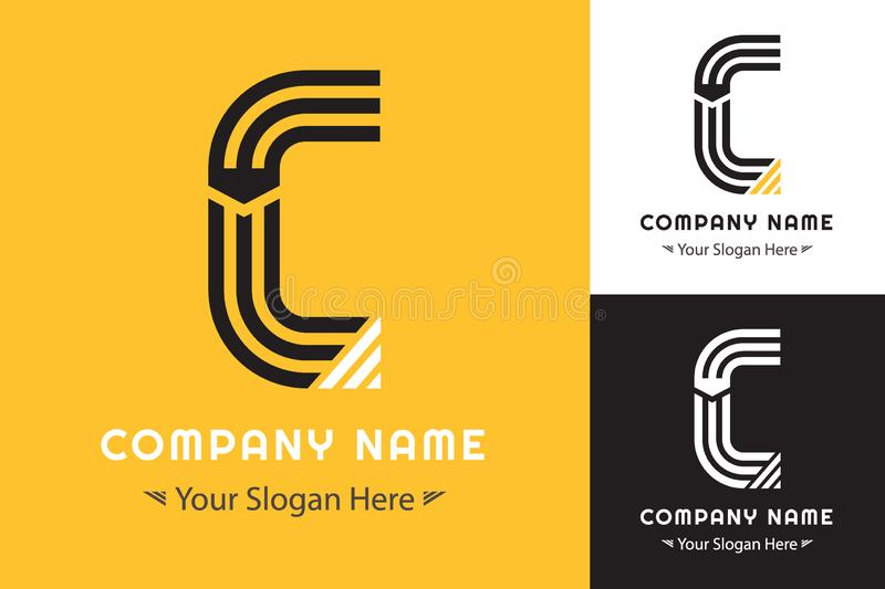 Modern Simple logo forming the letter C for Corporate Identity vector illustration