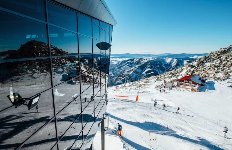 Modern ski areal in Tatra Mountain stock photo