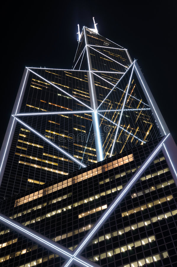 Free Modern Skyscraper At Night Royalty Free Stock Photography - 7799177