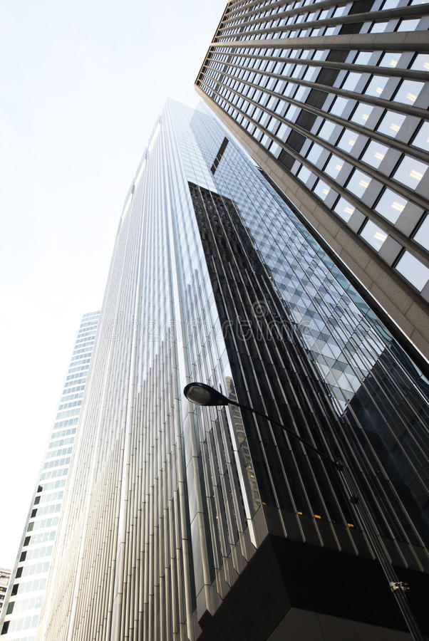 Modern Skyscraper. Bottom Up View. Chicago . Windy city royalty free stock photo