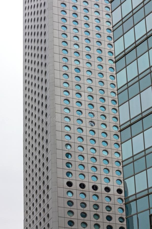 Round Windows Skyscraper stock photography