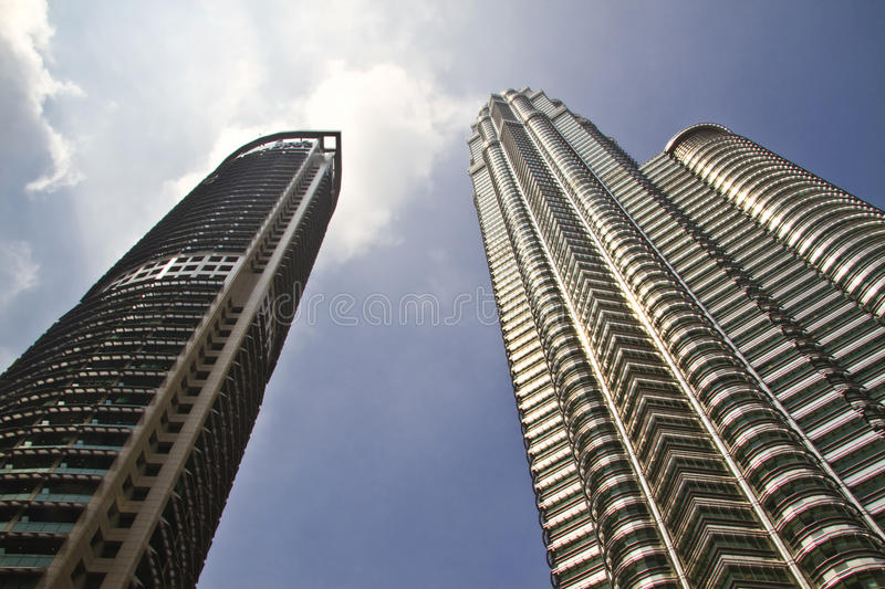 Modern skyscraper buildings in Malaysia stock images