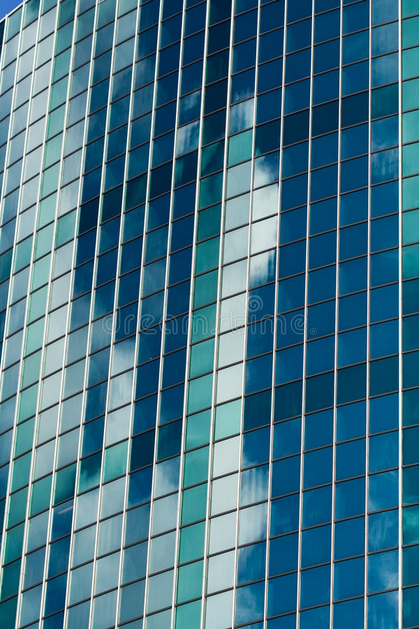 Modern Skyscraper Made Of Glass Royalty Free Stock Images