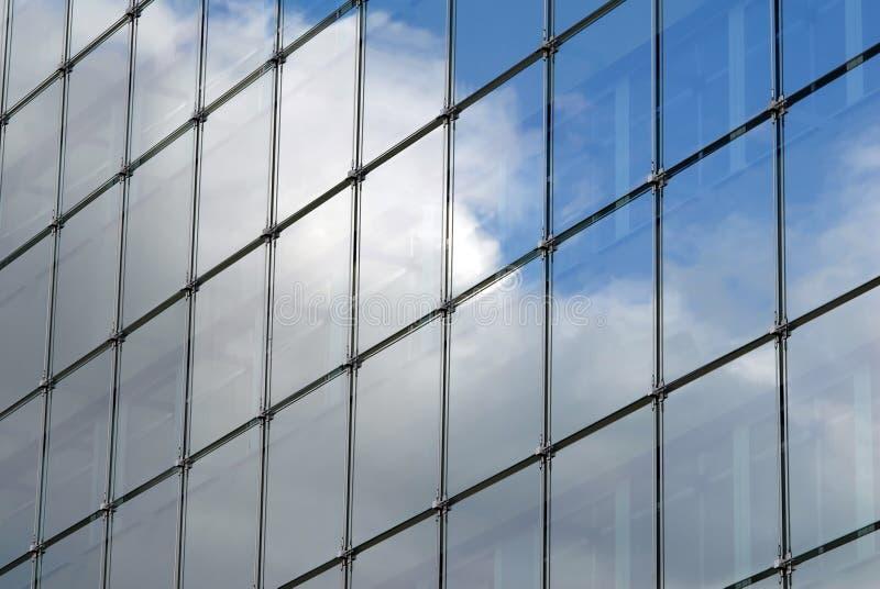 Modern skyscraper window reflections stock photo