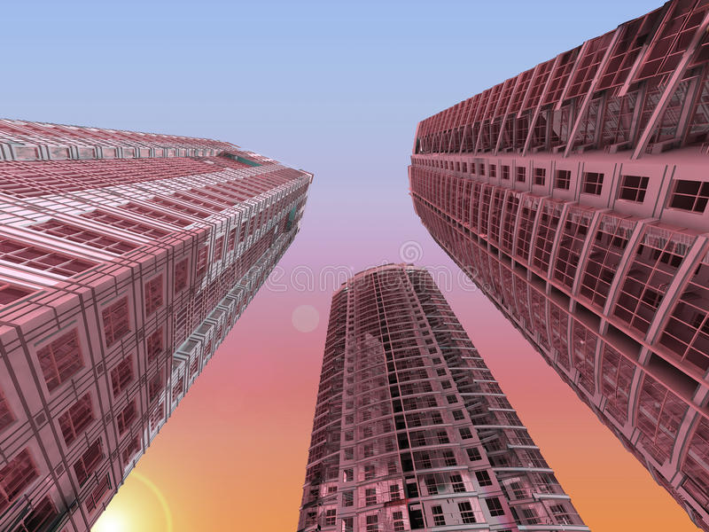 Download Modern skyscrapers stock illustration. Image of floor - 22590972