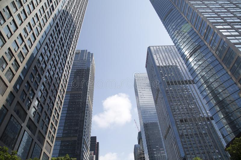 Modern skyscrapers in City Shenzhen China Asia royalty free stock photos