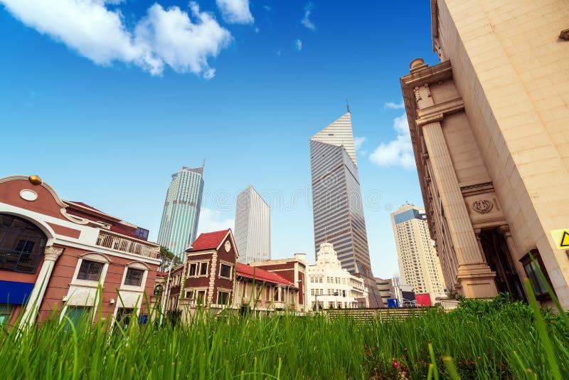 Skyscraper in Tianjin, China. Modern skyscrapers of the metropolis, Tianjin, China stock images
