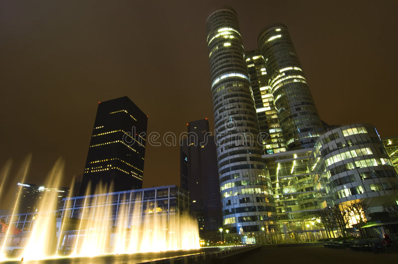 Modern skyscrapers in Paris stock image