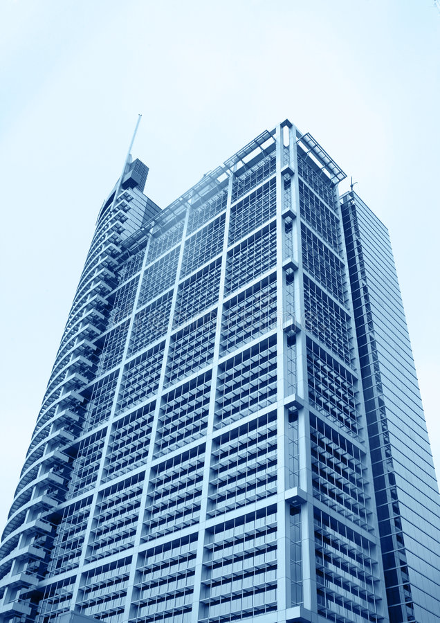 Modern skyscrapers at wide angle. In beijing china royalty free stock photography