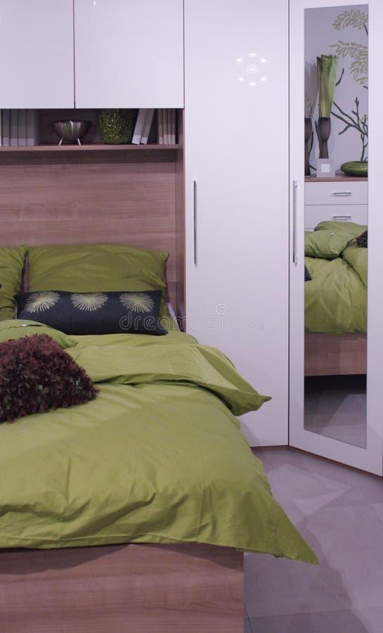Modern slaapkamer binnenlands ontwerp. stock fotografie