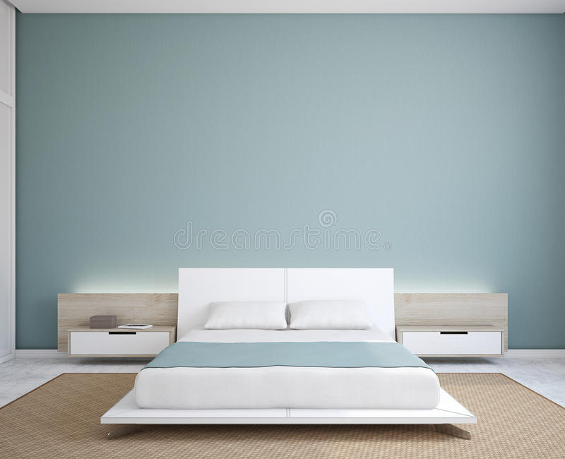 Modern slaapkamerbinnenland. stock illustratie