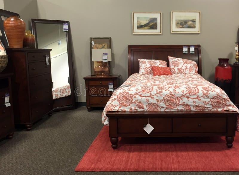 Modern slaapkamermeubilair royalty-vrije stock fotografie