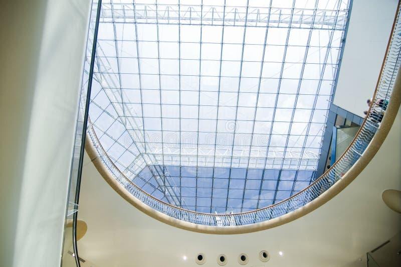 Modern Sleek Shopping Mall Architecture Stock Photos