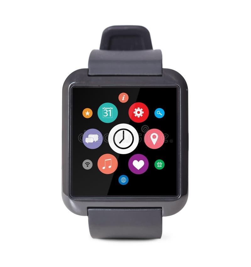Modern slim horloge stock afbeelding