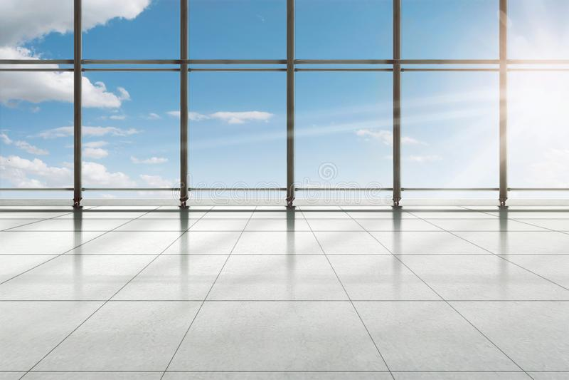 Modern slutlig byggnad för flygplats arkivbild