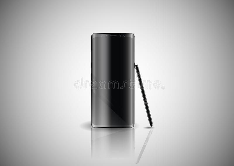 Modern smartphone.Stylish, modern gadget for drawing anywhere. stock illustration