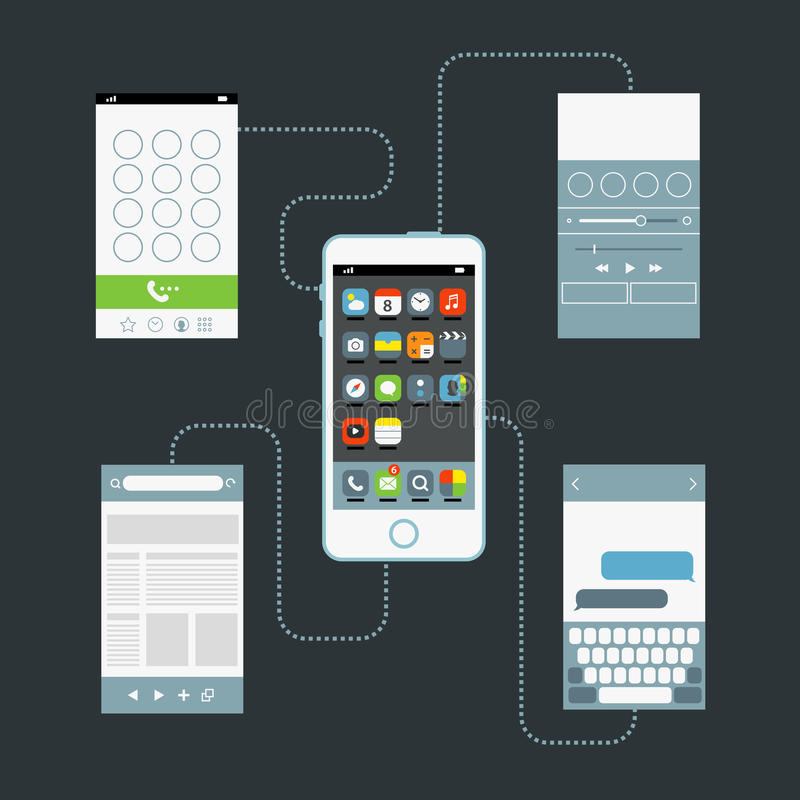 Modern smartphone royalty free illustration