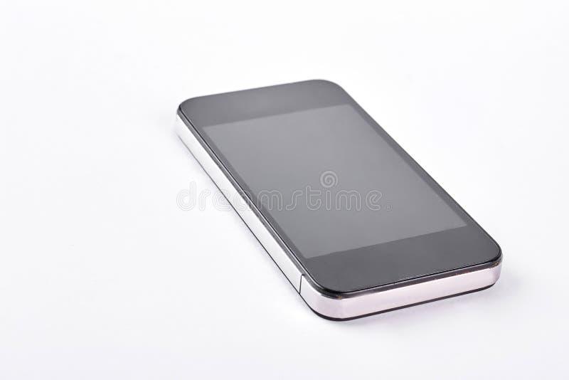 Modern smartphone on white background. stock image