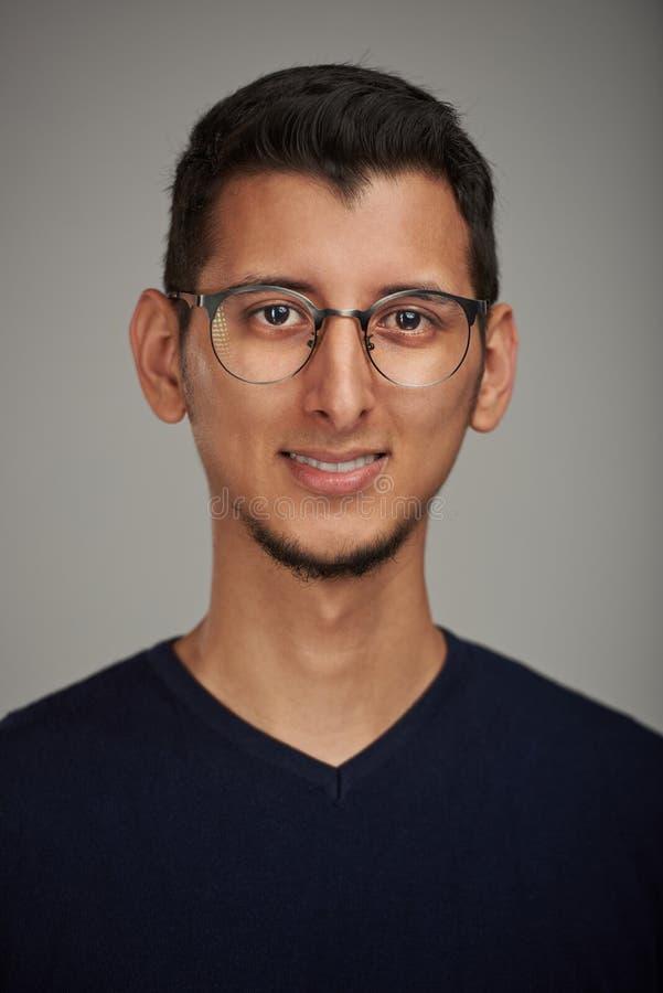 Modern smiling young man stock photos