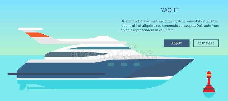 Modern snabb yachtWebsite med information vektor illustrationer