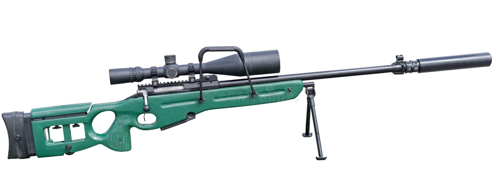 Modern sniper rifle royalty free stock images