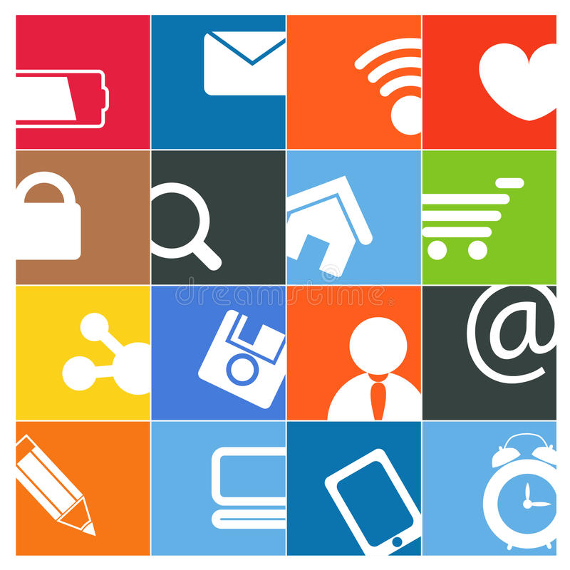 Download Modern Social Media Buttons Stock Vector - Image: 26294294