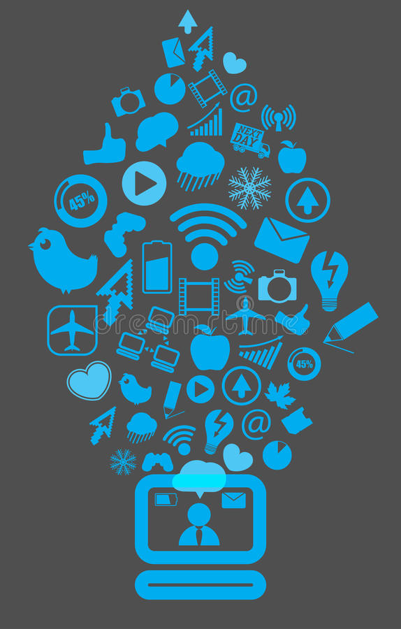 Download Modern Social Media Content Editorial Stock Photo - Image: 24623798