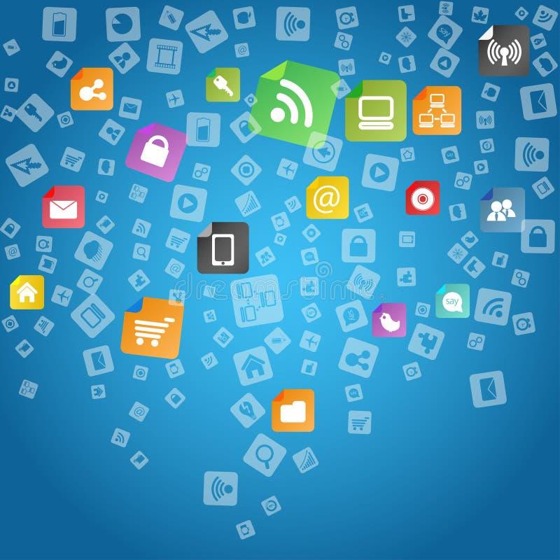 Download Modern social media icons stock vector. Illustration of communications - 24443226