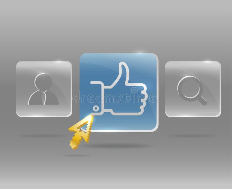 Modern social media menu royalty free illustration