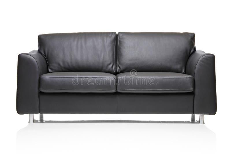 modern sofa för svart bildläder royaltyfri fotografi