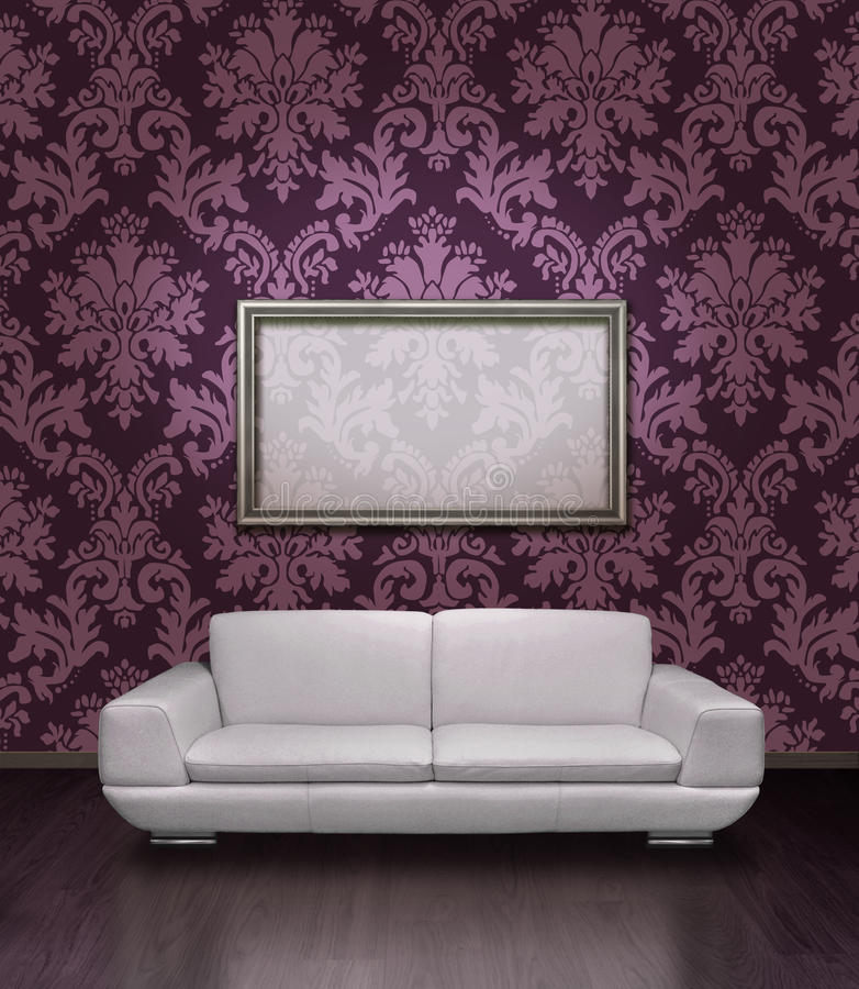 Download Modern Sofa And Frame Royalty Free Stock Images - Image: 12239259