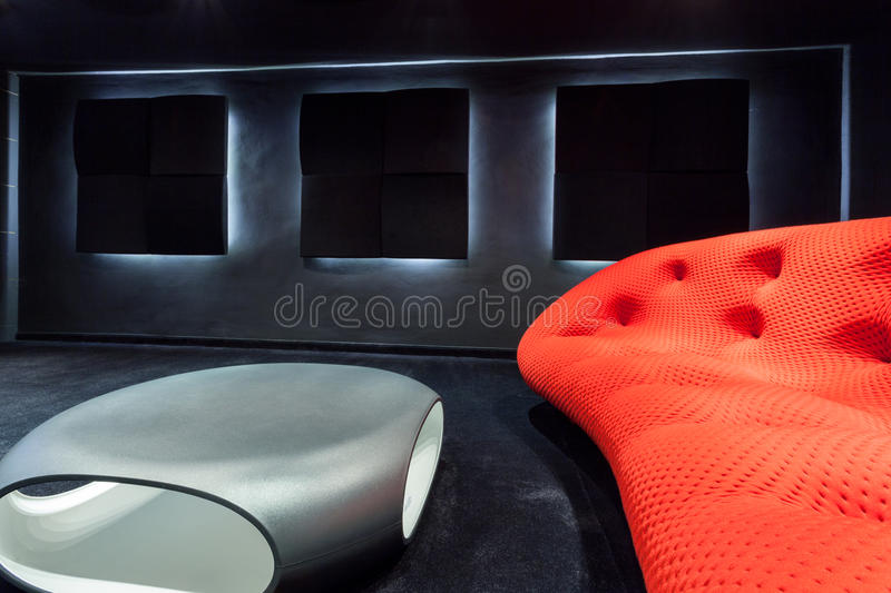 Modern sofa and table royalty free stock images
