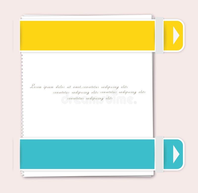 Modern soft color design template. royalty free illustration