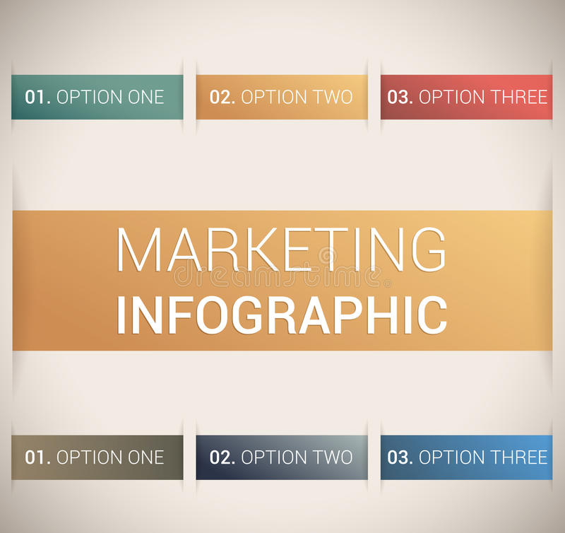 Modern Soft Color Design Template / Infographics Stock Image