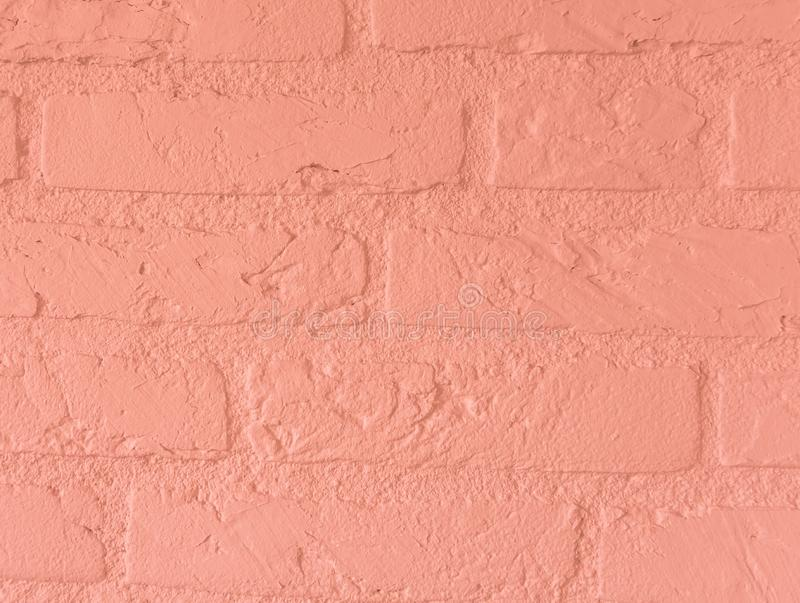 Modern soft light pink stone brick wall build of big stone bricks vintage background pattern royalty free stock photo