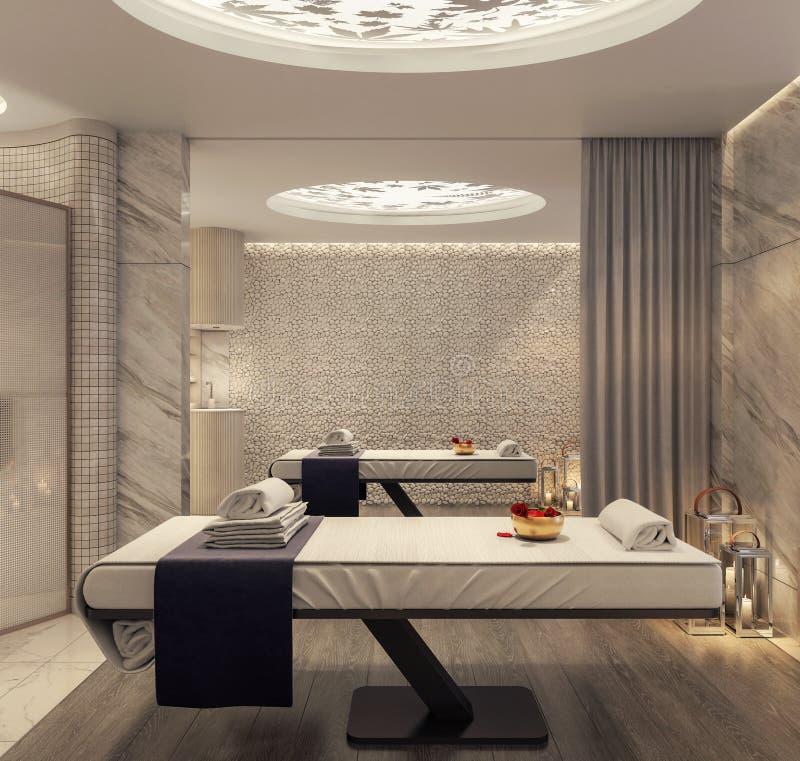 Modern Spa And Beauty Massage Salon Stock Illustration Illustration Of Aroma Room 148952897